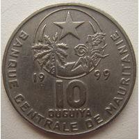 Мавритания 10 угий 1999 г.