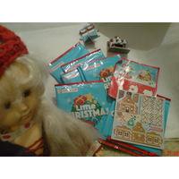 Игрушки из картона сборные.  можно как ёлочные игрушки.Сувенир Новогодний!