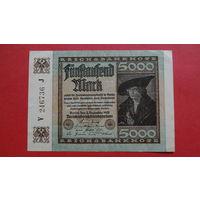 5000 Марок -1922- ГЕРМАНИЯ - III Рейх -d-
