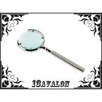 Лупа металлическая, с 6 х увеличением, линза 60 мм, made in Russia, цвет сталь, увеличительное стекло