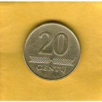 20 центов 2008 Литва