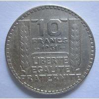Франция. 10 франков 1931. Серебро .294