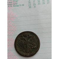 Деньга 1731 перечекан