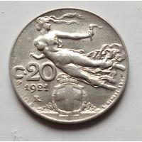 Италия 20 чентезимо, 1921 2-11-15