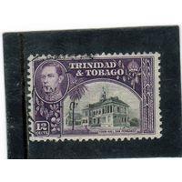 Тринидад и Тобаго.  Mi:TT 140. Ратуша, Сан-Фернандо. Серия: Король Георг VI. 1944.
