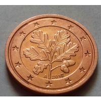 1 евроцент, Германия 2012 A, UNC