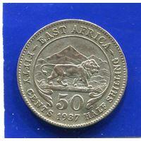 Британская Восточная Африка 50 центов 1937 , серебро
