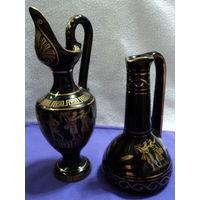 Ваза Греция,золотая роспись(черный кобальт,цена за 1 ед),лот 5