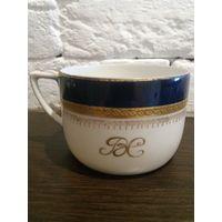 Антикварная чашка для чая ВС Клеймо Кобальт ручная роспись золотом