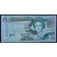 Восточные карибы. 5 долларов 2008 [UNC]