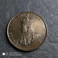 G Стрейтс-Сетлментс 50 центов 1921 г. Георг 5-й СЕРЕБРО редкая