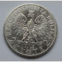 Польша 2 злотых 1933 Ядвига, серебро