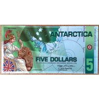 Антарктика 5$ 2008г -UNC-