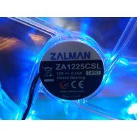 Вентилятор/Кулер/Fan корпусной Zalman ZA1225CSL (SL) Quiet Blue LED Fan 120mm 12V (2 шт.)