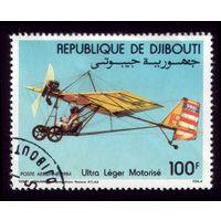 1 марка 1984 год Джибути Истребитель 396