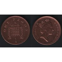 Великобритания _km935a 1 пенни 1997 год (обращ) (h01)