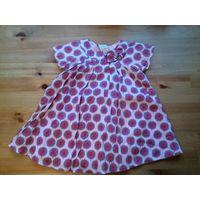 Фирменное платье от Jasper Conran на 6-9 месяцев. Изумительное качество ткани, на подкладке. Длина 41см, ПОгруди 25см (должно быть свободненьким).