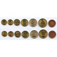 Перу НАБОР 7 монет 1935-1988 Адмирал Мигель Грау UNC