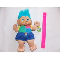 Тролль (1),  троллик мягкая винтажная игрушка.