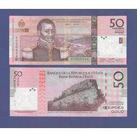 Банкнота Гаити 50 гурдов 2016 UNC ПРЕСС серия 200 лет независимости - Герои и Крепости