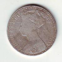 Британия. 1 флорин 1885 г.
