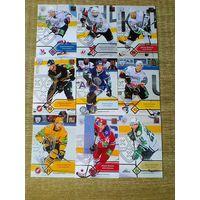 9 карточек 5 сезона КХЛ одним лотом.