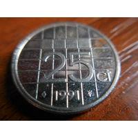 25 центов, Нидерланды, 1991 г.