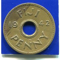 Фиджи 1 пенни 1942