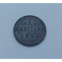 ГАМБУРГ  1 дрейлинг 1855 г.