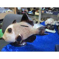 "Рыба-копилка ""Евпатория"", керамика 19х25 см."