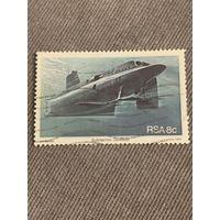 ЮАР 1982. Боевые подводные лодки. Марка из серии