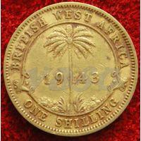 7904:  1 шиллинг 1943 Западная Африка