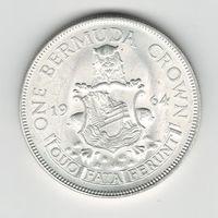 Бермудские острова 1 крона 1964 года. Серебро 22 грамма. Штемпельный блеск! Прекрасное состояние. UNC!