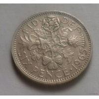 6 пенсов, Великобритания 1965 г.