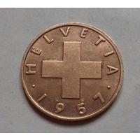 2 раппена, Швейцария 1957 г.