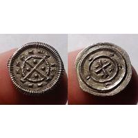 Венгрия, XII век, денарий короля Венгрии и Хорватии Иствана II, диаметр 12 мм