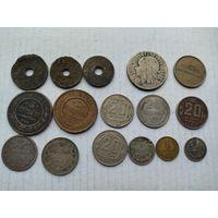 Лот монет с рубля без мпц!