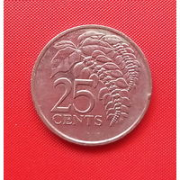 66-11 Тринидад и Тобаго, 25 центов 1999 г.