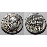 Римская Республика, монетарий Цецилий Метелл, 130 год, денарий