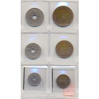 Франция комплект монет (6 шт.) 1922-1936 гг.