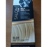 Стойкая крем-краска для волос Шелковое окрашивание, тон 9.01. Перламутровый блонд