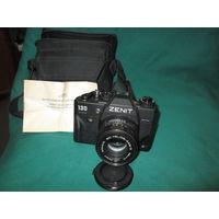Фотоаппарат Зенит 130 с объективом МС Гелиос 44-М-5 с чехлом.