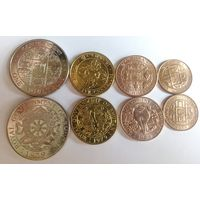 Бутан 1979 набор 5, 10, 25 четрум, 1 нгултрум