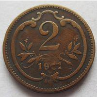 Австрия 2 геллера 1901