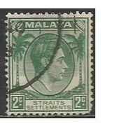 Стрейтс Селтментс. Король Георг VI. Пальмы. 1937г. Mi#211.