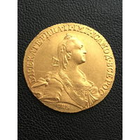 10 рублей 1766 г. СПБ TI