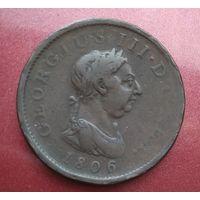 Великобритания 1 пенни 1806