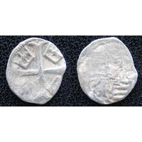 YS: Венгрия, парвус 14-15 века (1387-1427), Сигизмунд I Люксембург, серебро, Huszar# 580