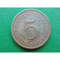 Эстония  5  сентов 1931 год.