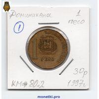 Доминикана - 1 песо 1997 - 1